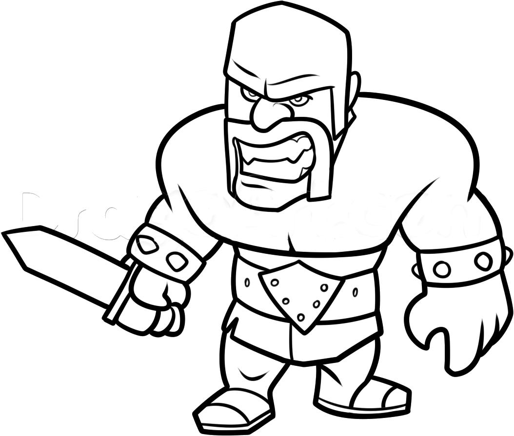 jogo colorir bárbaro de clash royale no jogos 360
