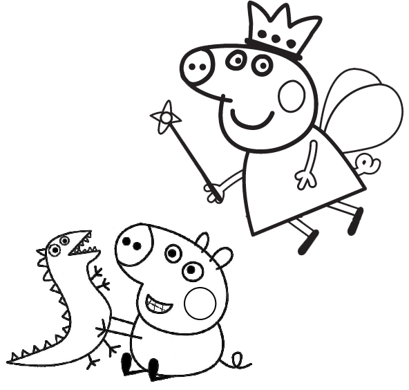 George Pig Crying - George Pig da Família Peppa Pig Chorando Jogo Pintar - Peppa  Pig