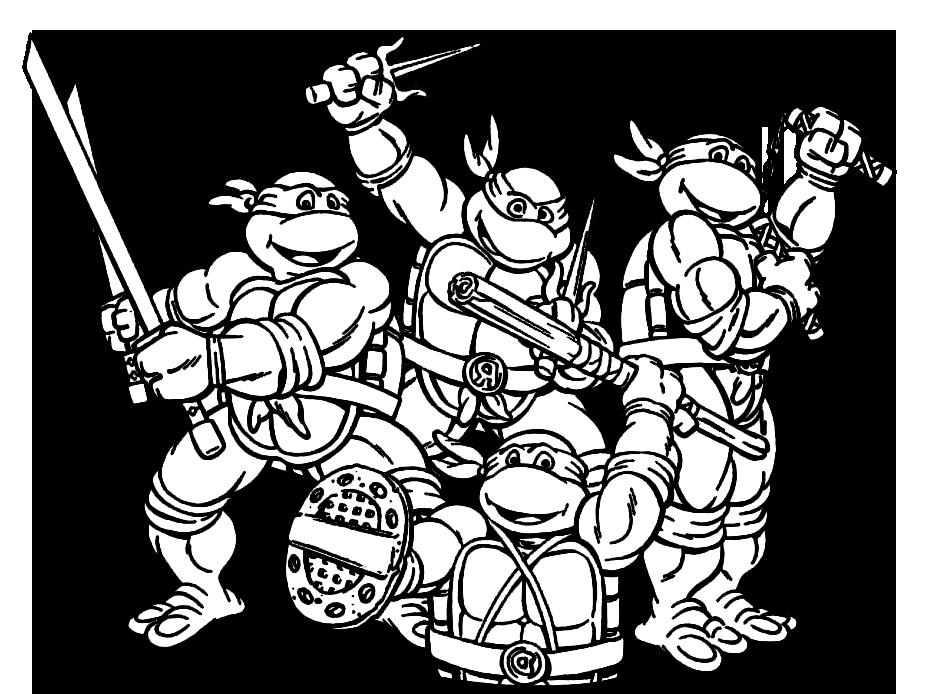 Desenho Para Colorir Tartaruga Ninja