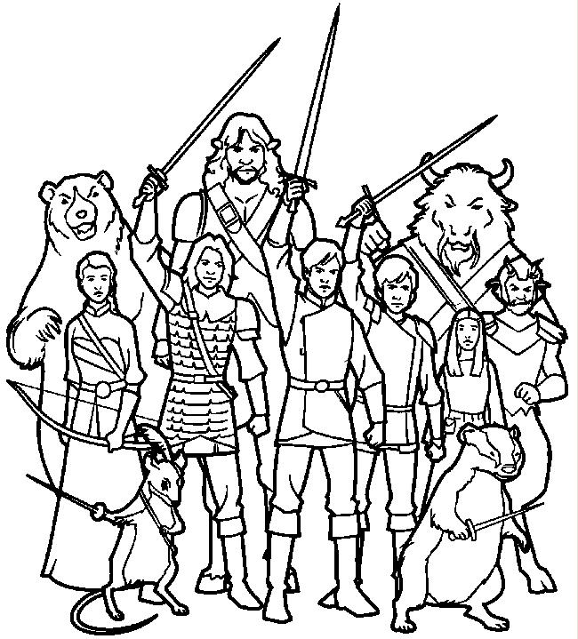 Jogo Pinte a Turma de Narnia no Jogos 360
