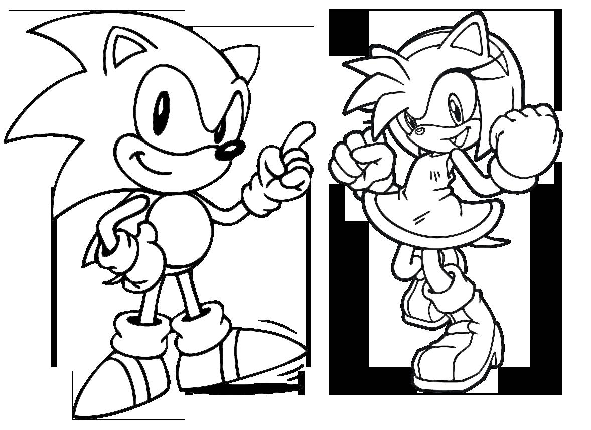 Dibujos Sonic Para Imprimir: Fantástico Sonic Colas Para Colorear Patrón
