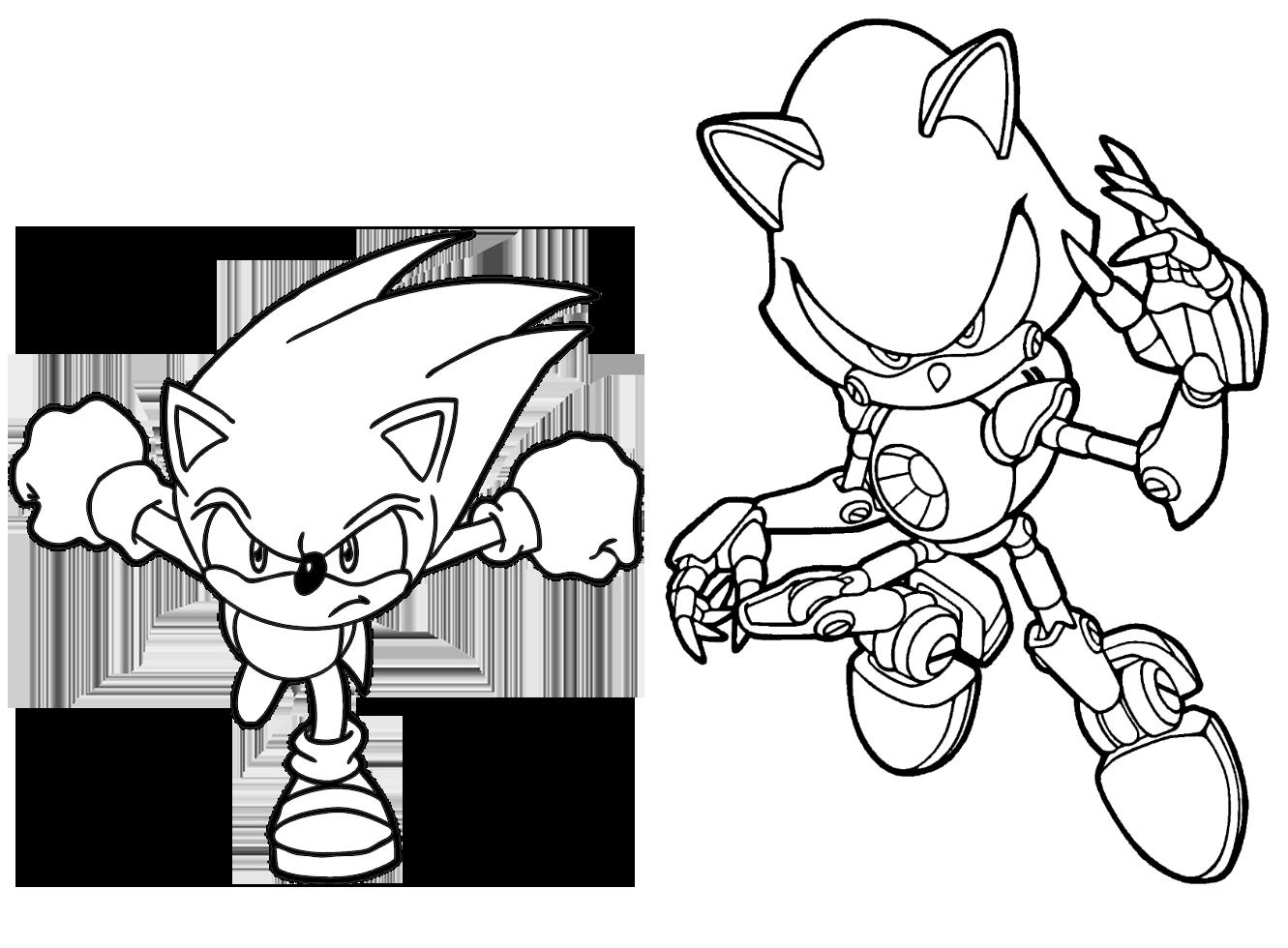 Dibujos De Sonic Para Imprimir Y Colorear