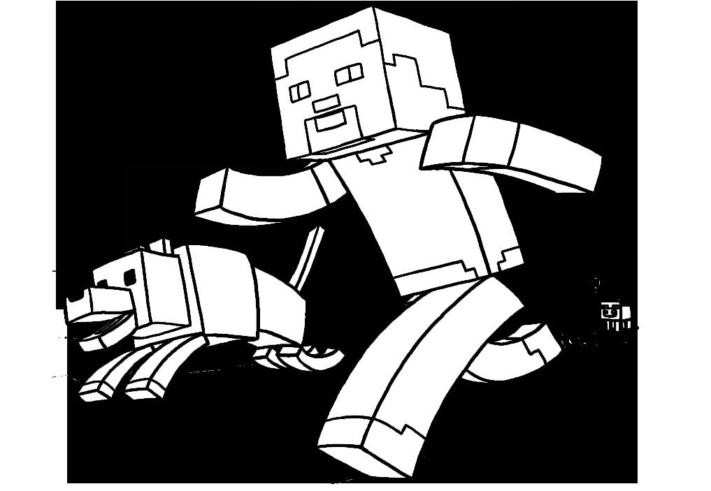Minecraft Para Colorear: Dibujo De Minecraft Para Colorear